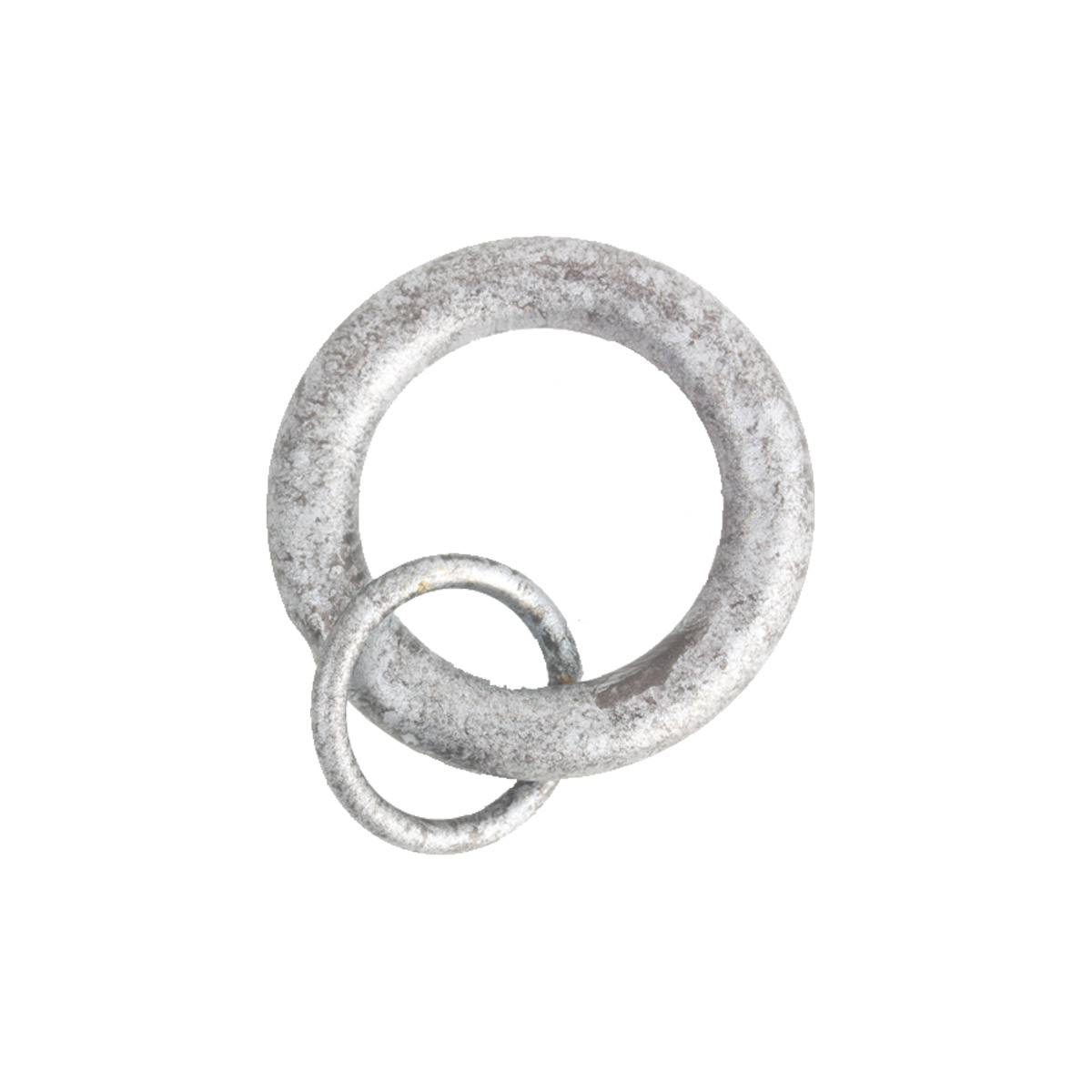 Rings W/ Loop 4 Silver (10 Per Pack)